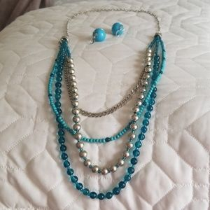 Fun summer series earrings and multi tiered neckla